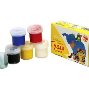 Гуаш Улюблені іграшки набір 6 кольорів 60 мл