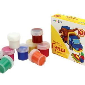 221032-4820072531099-Гуашь-Любимые игрушки-набор 9 цветов 90 мл