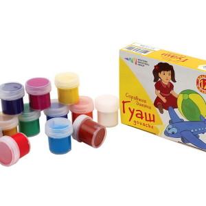 Гуаш Улюблені іграшки набір 12 кольорів 120 мл