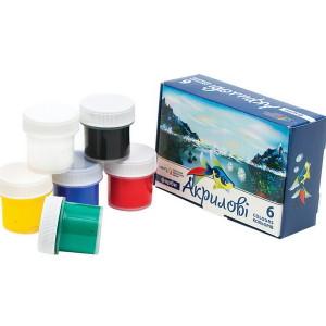 Gouache-Acrylic-set of 6 colors 60 ml-221036
