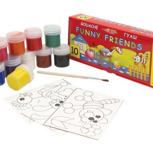 Gouache-Funny Friends-set of 10 colors