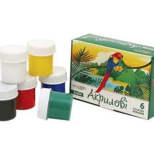 Gouache-Acrylic-set of 6 colors